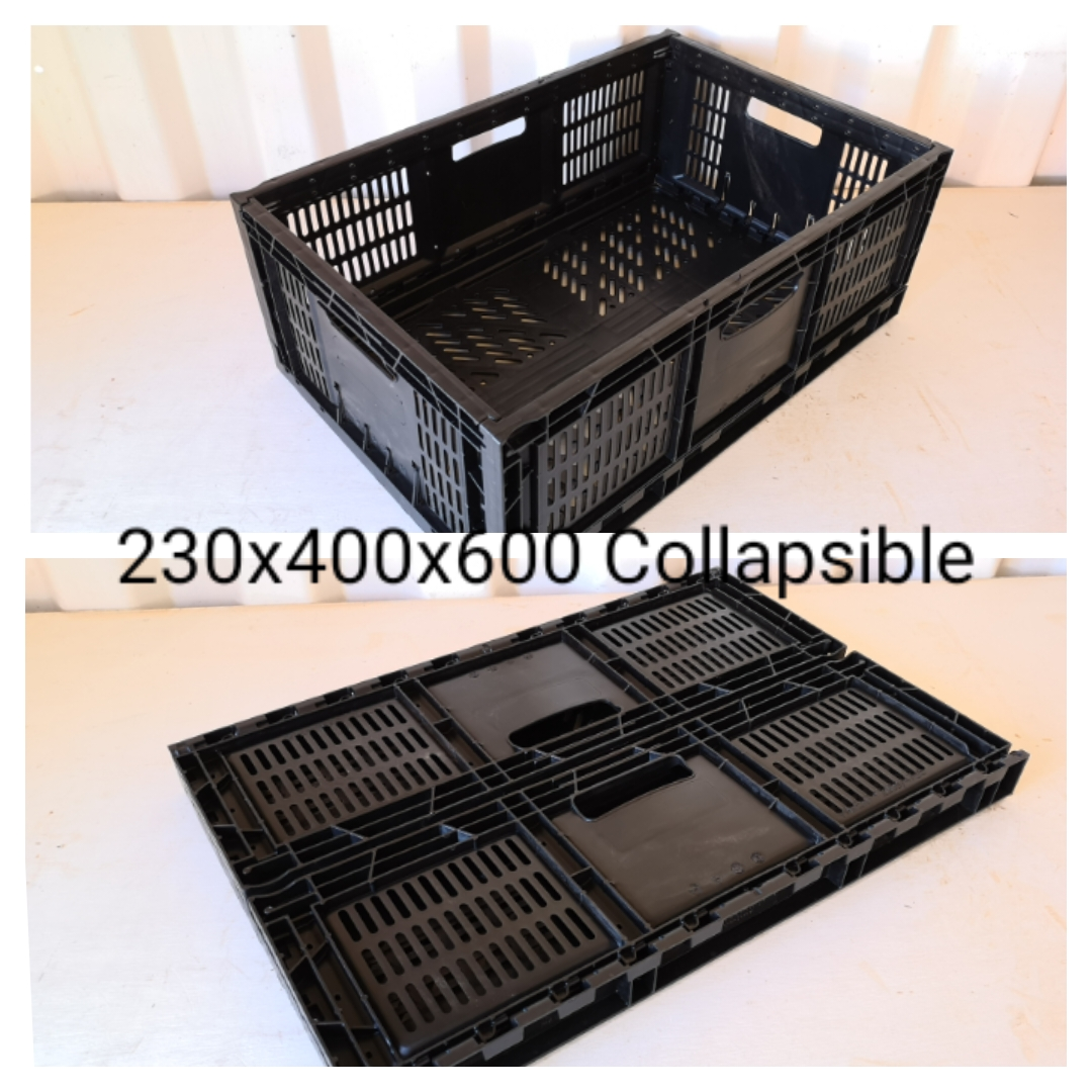 blue-and-black-plastic-crates-collapsible